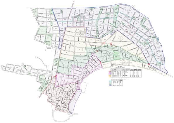 Σχέδιο Ιεράπετρας με οικοδομικά τετράγωνα & ονοματοθεσία οδών